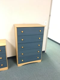 white and blue wooden dresser Columbia, 21046