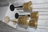 Black and ivory gold cups Selling the all pieces for event decor Mississauga