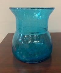 Blue and clear glass jar Charlotte, 28208