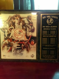NY Yankees 1998 world champs plaque East Stroudsburg, 18302