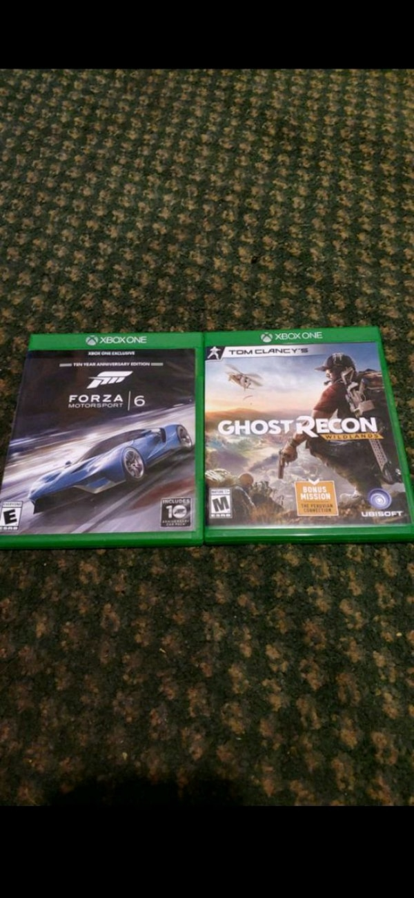 Forza Motorsport 6 and ghost Recon wildlands