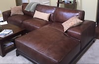 Brown soft leather sectional  sofa 66 km