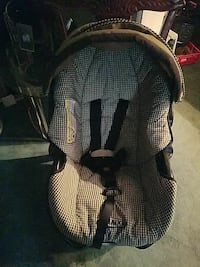 white and black car seat