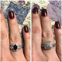 Kay's sterling rings 25 each or both for 45 size 7 Ona, 25537