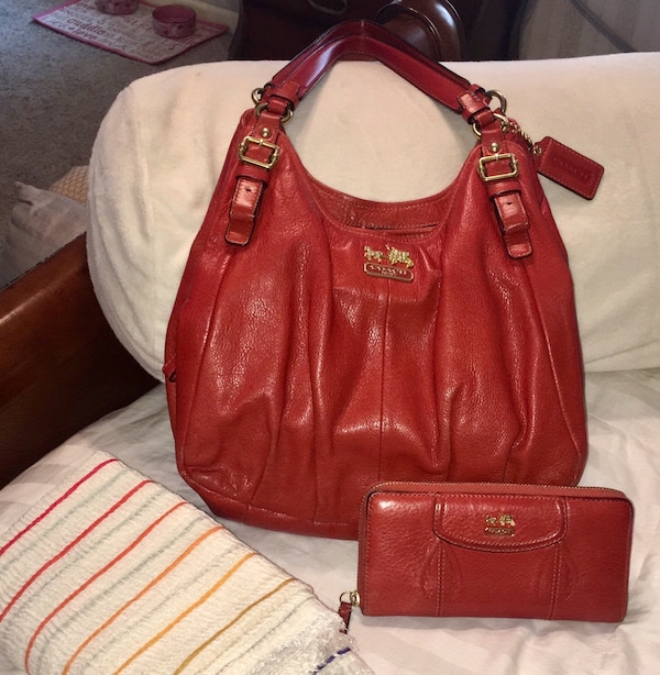 33090dc7b90434 Used red leather Michael Kors handbag for sale in Schenectady - letgo