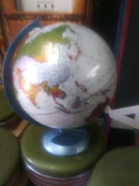 Spinning globe of the whole wide world