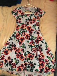 white, pink, and green floral sleeveless dress Concord, 28025