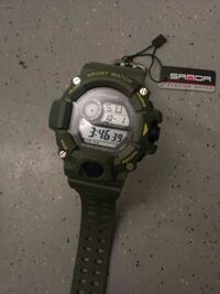 ny klokke Sport watch saOda fashion. military Gree Oslo Municipality, 0166