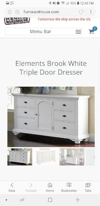 Triple white dresser  Bradenton, 34209