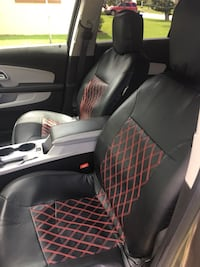 Big Hippo PU Leather Seat Covers Universal Car Seat Covers Full Set with Airbag Compatible-Fit for Car, Truck, SUV Auto Front And Rear Seat Protectors(Black & Red). Paid 59.99 plus tax  Selling for $25 Ormond Beach, 32176