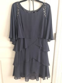 Bejeweled Grey Cape Dress 49 km