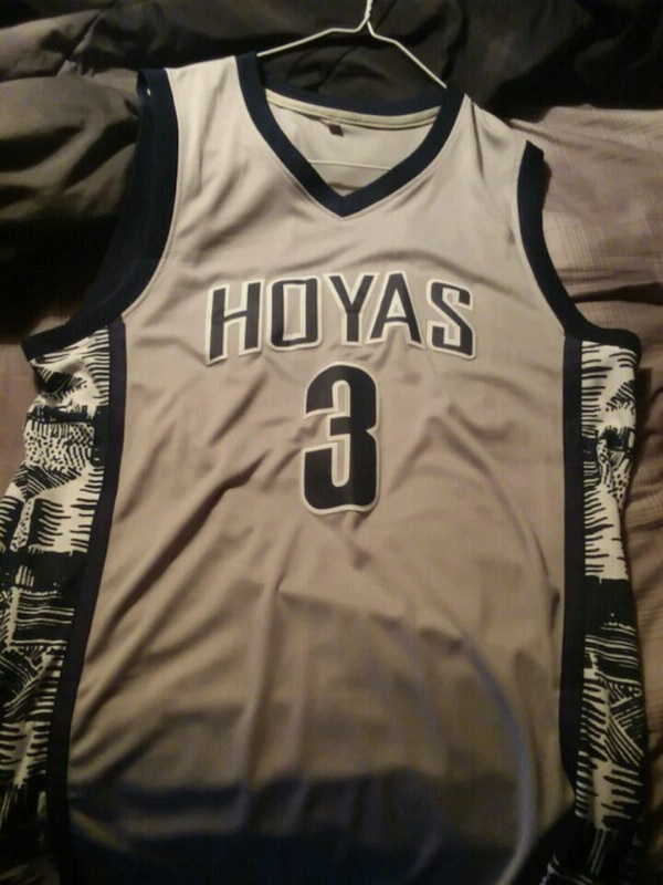 check out 90433 be92b Georgetown Hoyas Allen Iverson Jersey