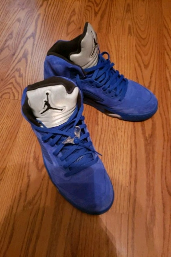 b64ed307ac1d33 Used Blue Suede Jordan 5 size 12 for sale in Austell - letgo