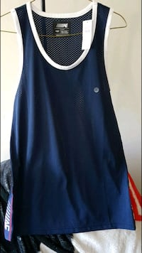 blue and white Nike tank top Winnipeg