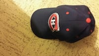 black and red Montreal Canadien cap