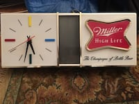 Vintage miller high life lighted clock excellent working condition disco like lights