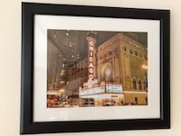 Black IKEA frame includes photo of Chicago Theater Bethesda, 20814