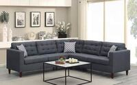 CLEARANCE] Belmont Gray Fabric Sectional Houston, 77036