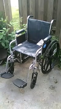 black and gray folding wheelchair Indianapolis, 46260