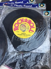 Plastic record decor new