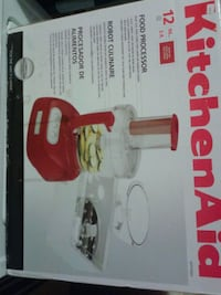 white and red Kitchen Aid food processor  Vancouver, V5S 3H4