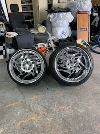 """20"""" staggered rims/wheels Surrey, V4A 4P9"""