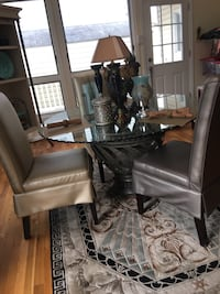 Chair wrought iron glass table dinning w/ rug table accessories Rockville, 20850