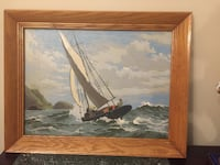 Framed vintage oil painting 19x15 Halifax, B3K 4K3
