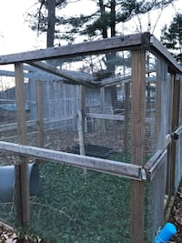 Gray wood framed pet cage Atkinson, 03811