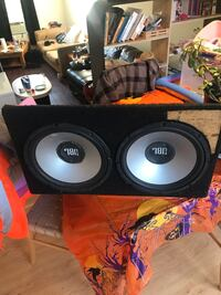 """Two 12"""" jbl subwoofers in box with kenwood 1000watt amp and wiring kit Wappingers Falls, 12590"""