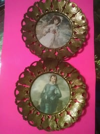 2 pictures in brass butterfly frames Kansas City, 64119