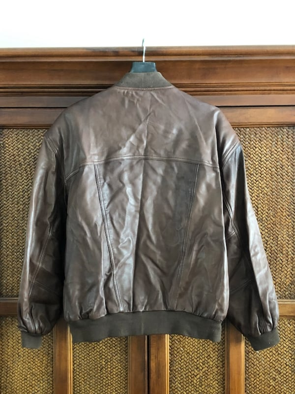 Men's brown leather jacket 1
