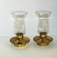 2 Vintage Brass Hurricane Lamp Candle Holder Read Mississauga, L4X 1S2