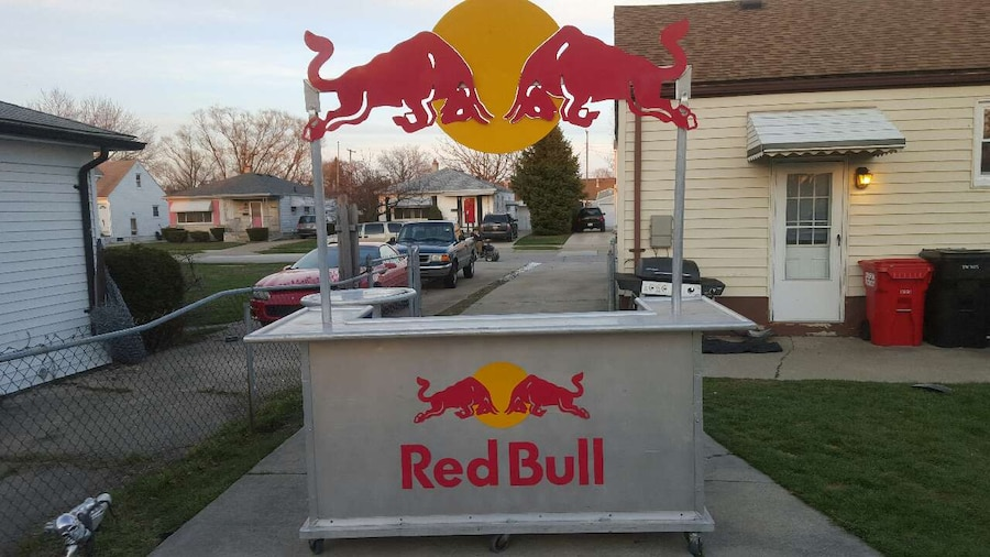 Used official red bull bar and side table in roseville watchthetrailerfo