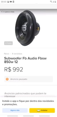FB audio subwofer  Kocatepe, 34437