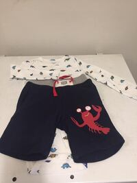 New shorts and new onesie both 100% cotton size 24 months Toronto