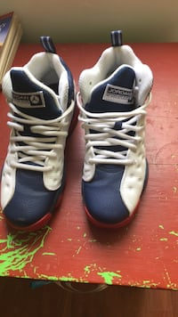 pair of blue-and-white Nike basketball shoes Florissant, 63033