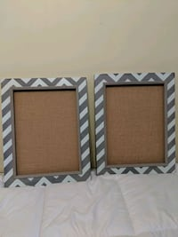 2 Burlap and Wood Pinboards- Excellent Condition!  Brampton, L6V 3K7
