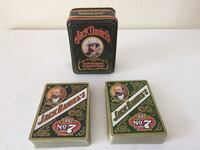 Vintage jack daniel's old no. 7 gentleman's playing cards in tin