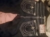 black and white True Religion jeans