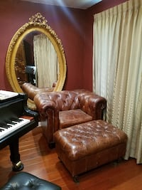 Very High Quality Leather Chair + Ottoman MODESTO