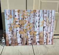 Brown and white abstract painting Wilmington, 28405