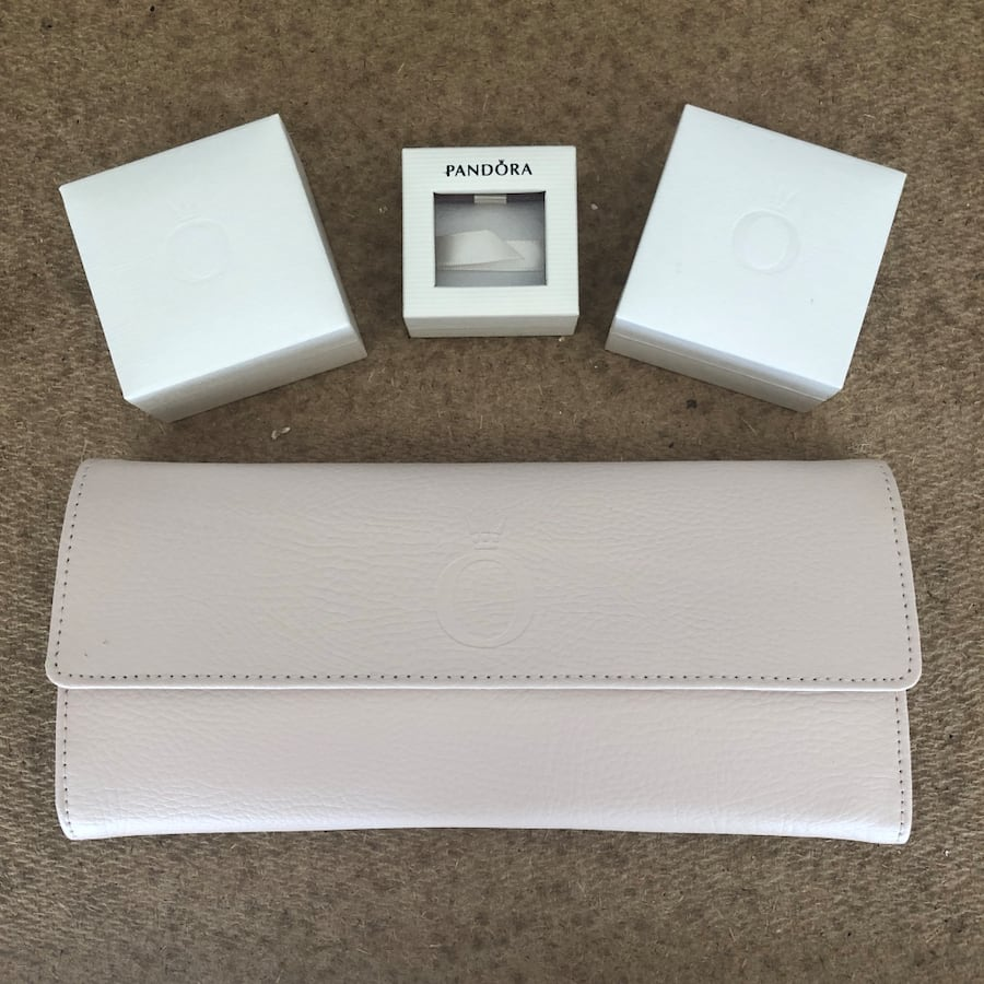 Pandora jewelry roll and boxes