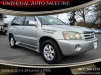 2002 Toyota Highlander Base 2WD 4dr SUV V6 salem
