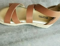 pair of brown leather sandals Imperial, 92251