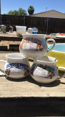 Three soup cups vintage