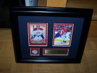 """10 x 12 """" framed CAREY PRICE O PEE CHEE & UPPER DECK cards Vaughan"""