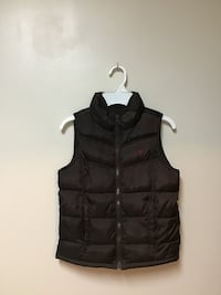 Girls Old Navy Brown puffer fleece lined warm vest… Size medium