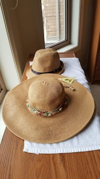 two brown sun hat and fedora hat Hamilton, L9K 1M8
