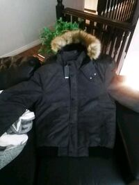 Buffalo coat faux fur hood